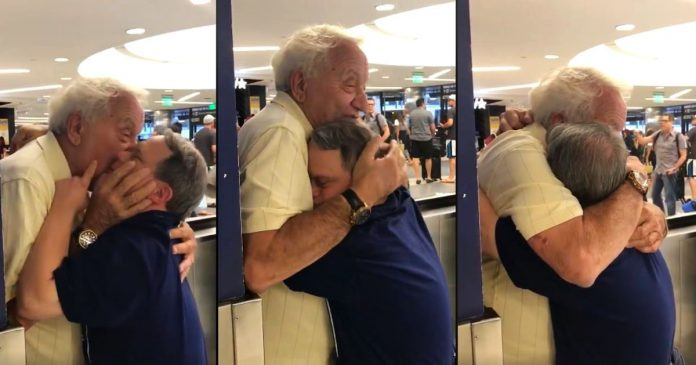 Beautiful Moment as 88-year-old father reunited with his 53-year-old-son with Down syndrome