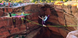 Daring Couple Got Married While Suspended 400 Feet Above The Moab Canyon