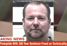 Serial Pedophile With 300 Year Sentence Freed on Technicality, Won't Have to Register as Sex Offender