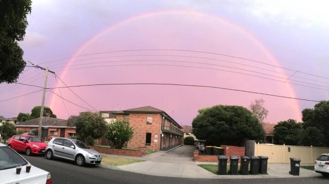 #rainbow #dome #sky #Australia