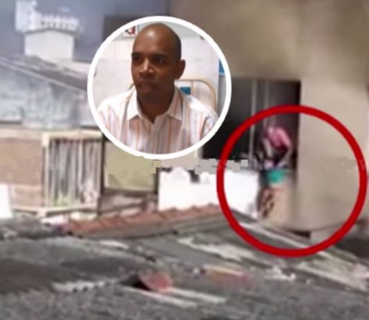 Father Risks His Life To Rescue His Wife And Kids From A Fiery Building