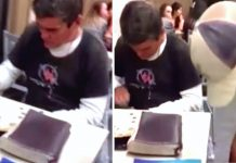 Homeless Man Is Counting Change At Chick-fil-A When 3 Teenagers Drop Heavy Bags Under His Table