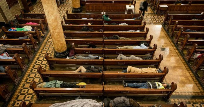 Church Allows Homeless To Sleep Overnight, Gives Them Blankets