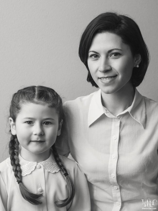 Turkish, Greek, Kazan Tatar, Ukrainian mother and daughter