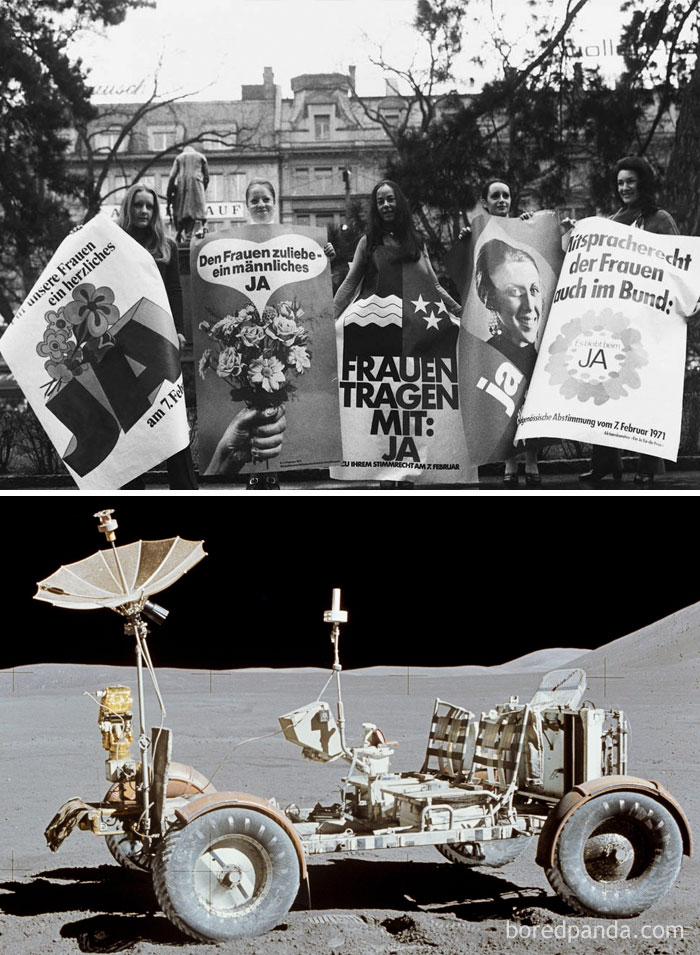Swiss Women Got The Right To Vote The Same Year The U.S. Drove A Buggy On The Moon (1971)