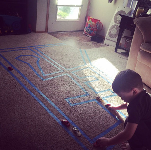 A Carpet For Your Kid To Play With Toy Cars