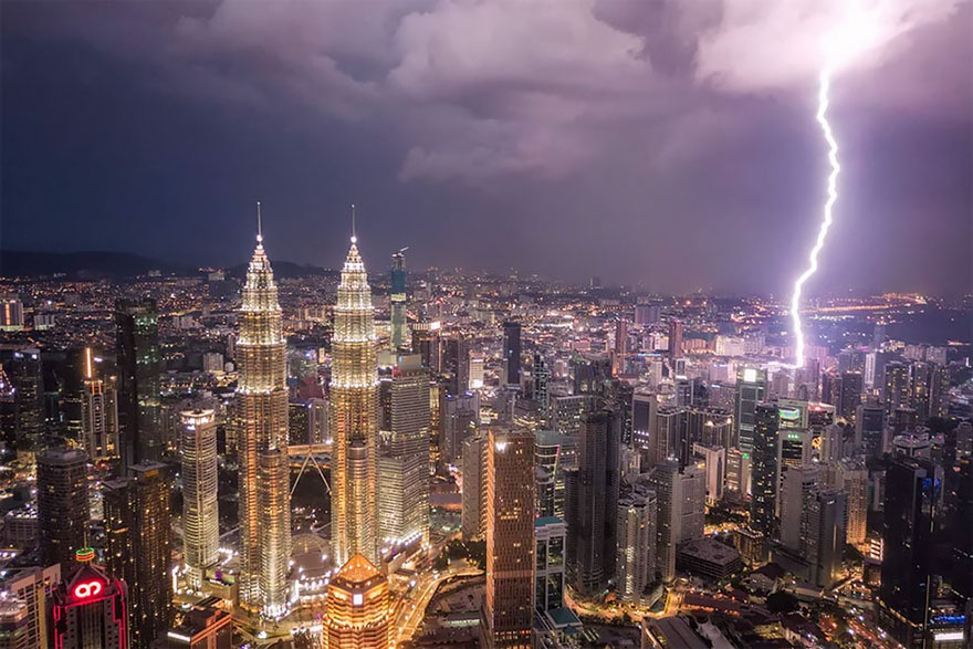 Lightning Over Kuala Lumpur