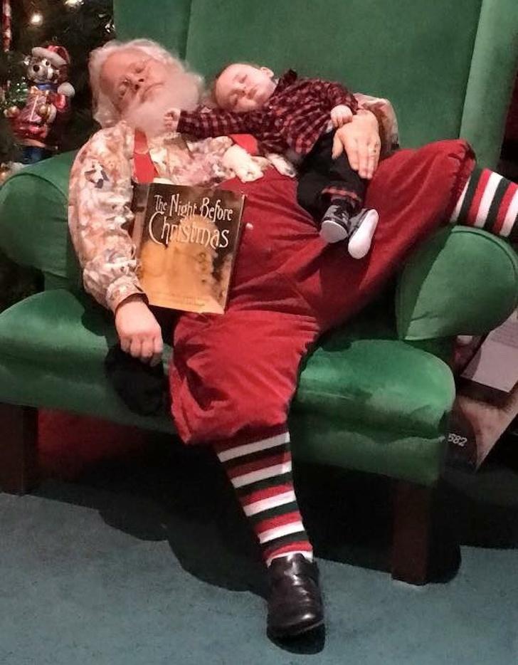 santa and a kid