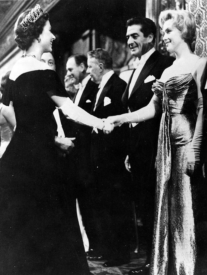 Marilyn Monroe And Queen Elizabeth