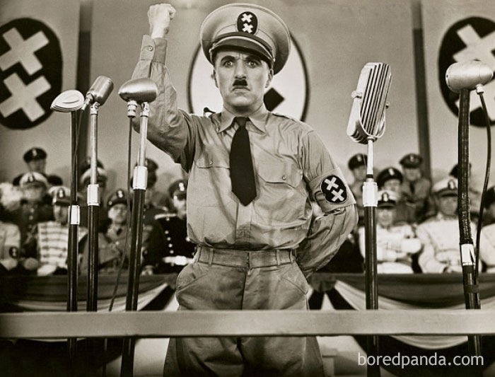 "Charlie Chaplin And Adolf Hitler Were Both Born In 1889. Interestingly, Chaplin Portrayed Hitler In The 1940 Satire ""The Great Dictator"""