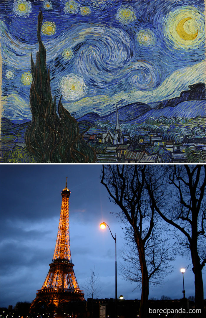 Eiffel Tower Was Inaugurated In 1889 For The World's Fair, Which Was The Same Year Van Gogh's 'Starry Night' Was Painted
