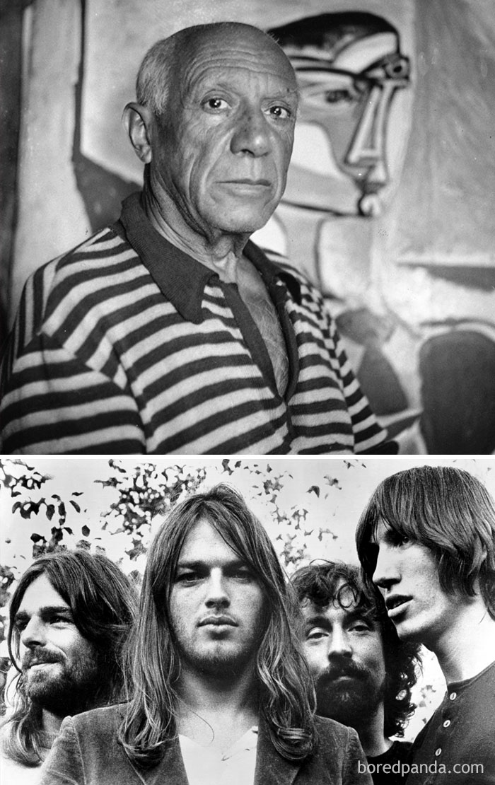 "Artist Pablo Picasso Died In 1973, The Same Year Pink Floyd's ""Dark Side Of The Moon"" Was Released"