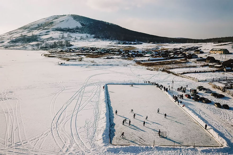 Rural Ice Hockey In Russia