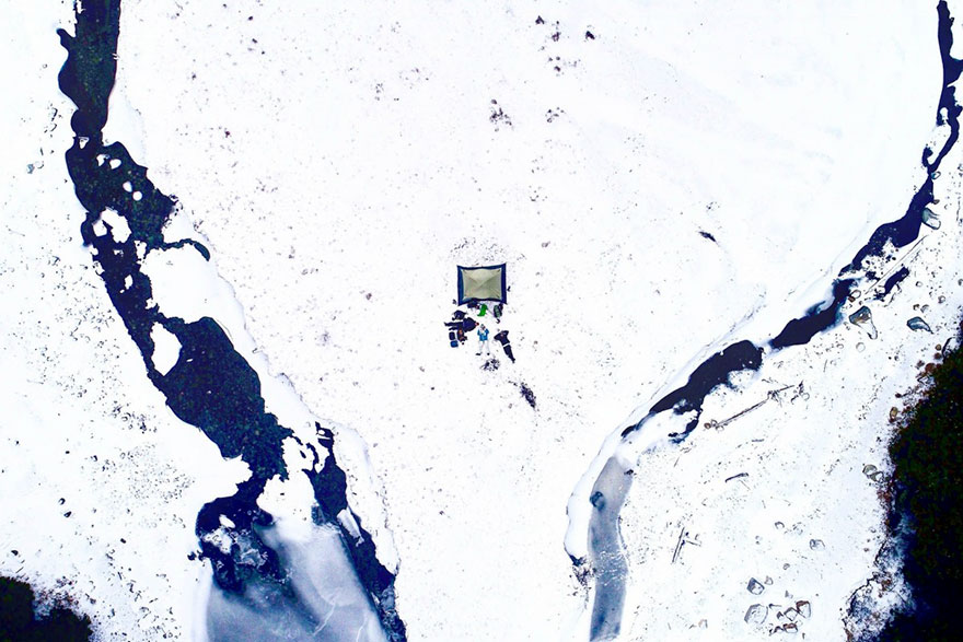 Camping Spot snow