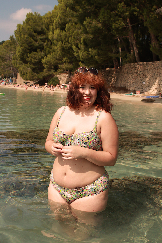 fat woman in bikini