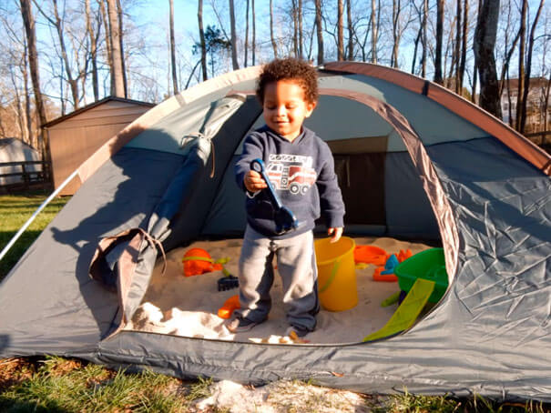 A Tent To Make A Sandpit