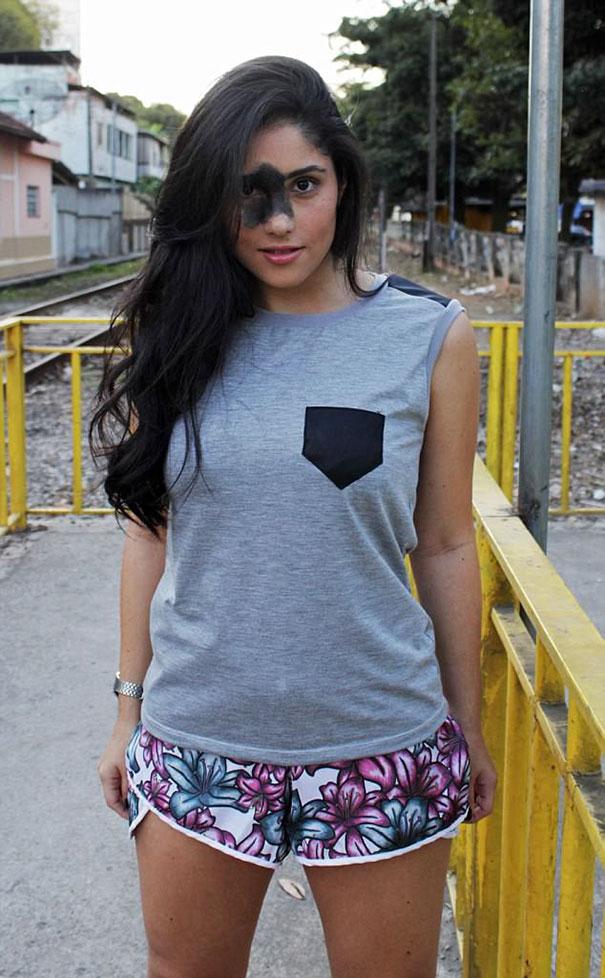 Mariana Mendes with shorts