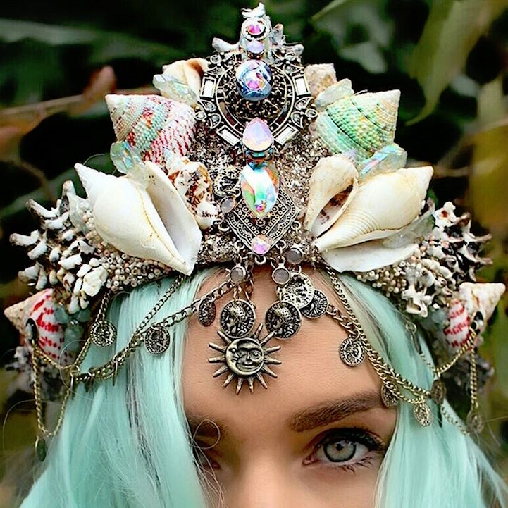 beautiful girl wearing a tiara