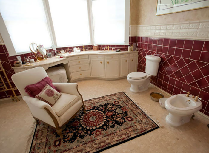 toilet in the living room