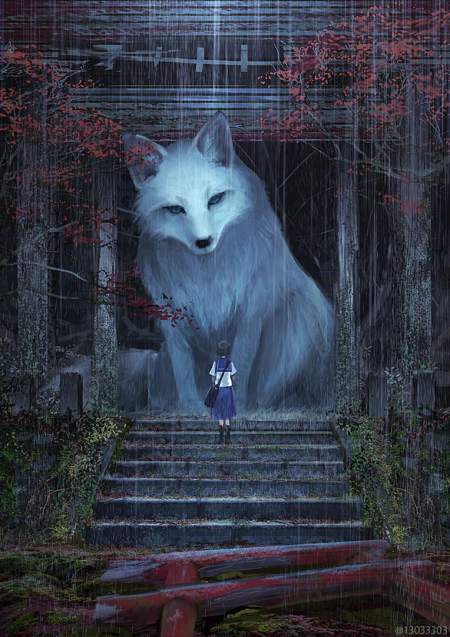 big white wolf