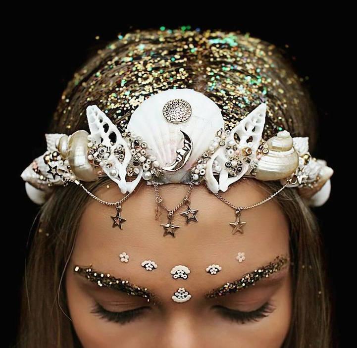 seashell tiara girl