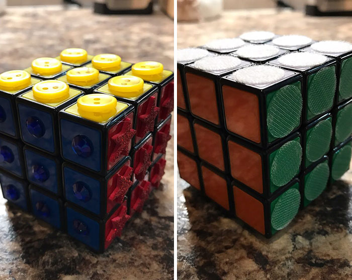 rubik's cube for blind