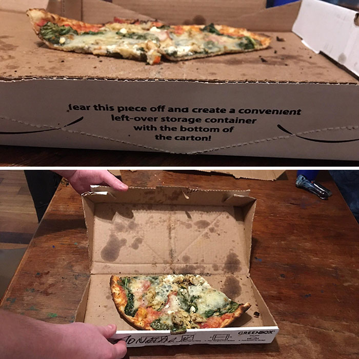 Smaller Box For Leftovers