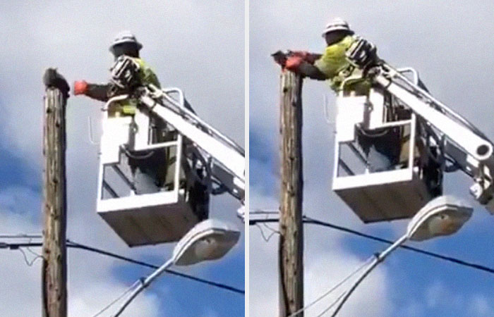 telephone pole repair