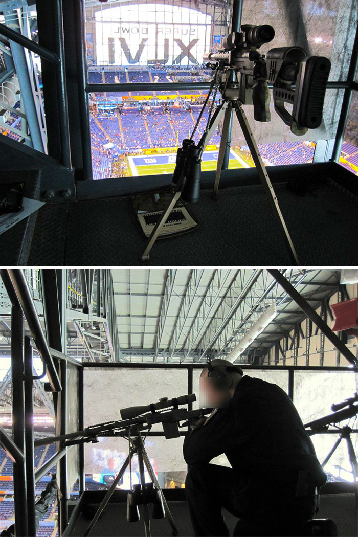 Sniper's Nest At The Super Bowl