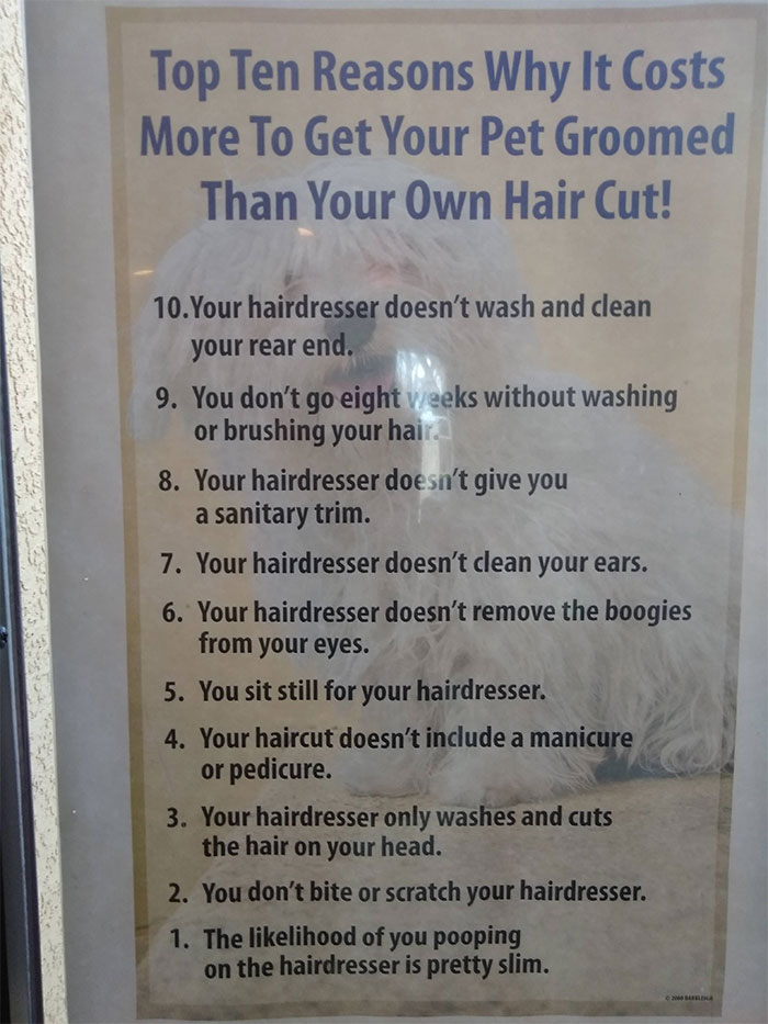 Hilarious Poster For Customers