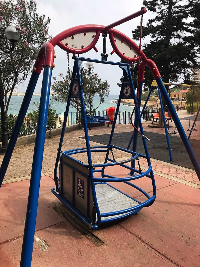 swings for disabled people