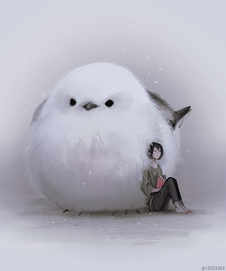 big cute bird