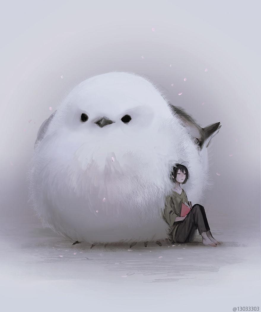 big cute bird