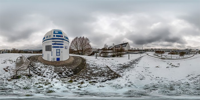 R2-D2 Observatory  in winter