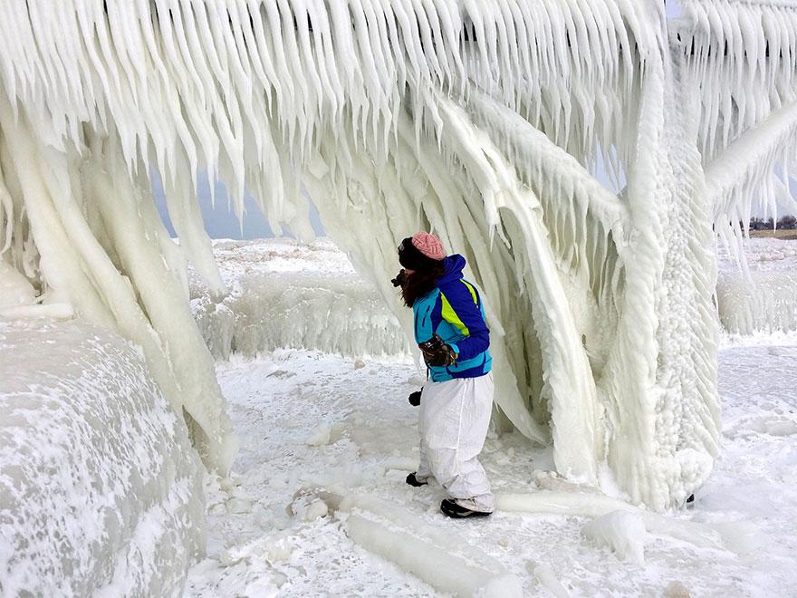 frozen ice bridge