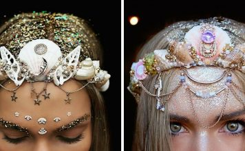 Dazzling Crowns Adorned with Seashells Transform Women Into Modern-Day Mermaids