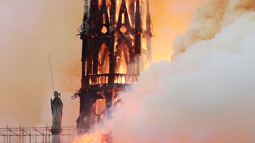 Paris's Notre Dame cathedral massive fire