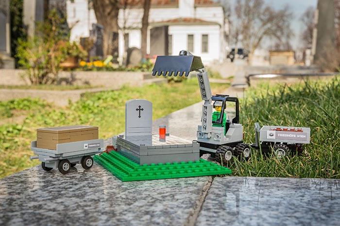 Friedhof aus LEGO(R)-Komponenten
