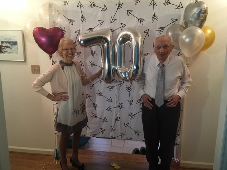 My grandparents celebrated their 70th wedding anniversary