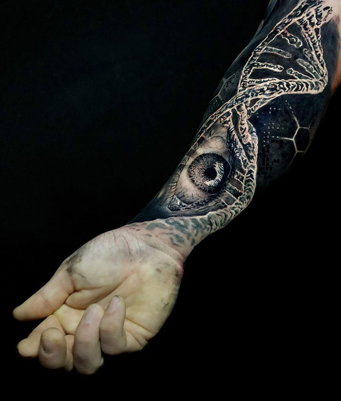 3d eye tattoo