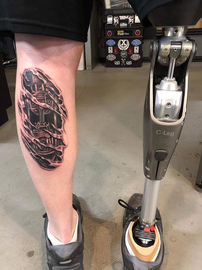 fake leg