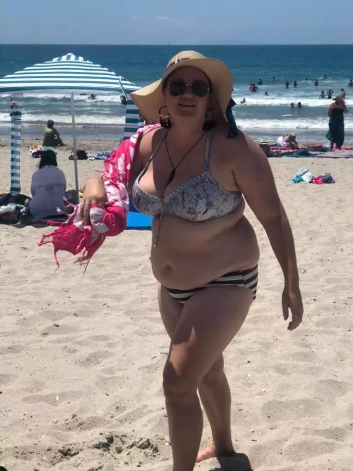 fat woman in bikini