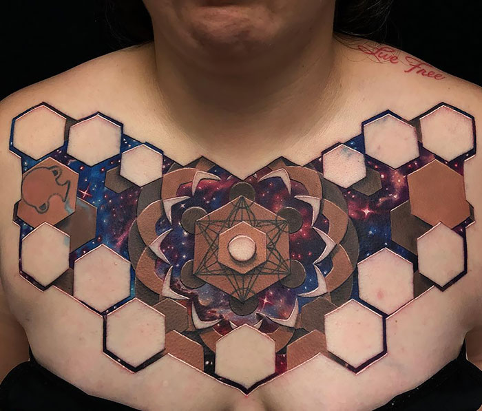 3d chest tattoo