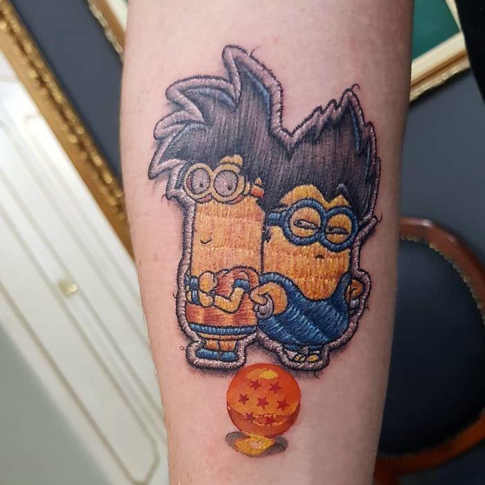 minions kevin and bob tattoo