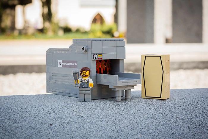 Krematoriumsofen aus LEGO(R)-Komponenten