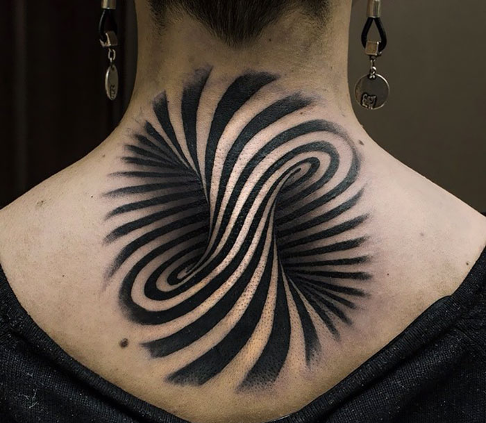 Optical Illusion Is Perfect As A Tattoo