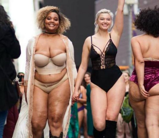 Models of All Sizes Don Lingerie to Transform Times Square Into Body Positive Catwalk