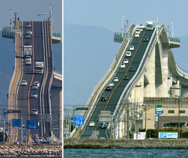 The Eshima Ohashi Bridge In Japan