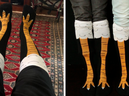 Chicken Leg Socks Are A Thing And They Look Hilarious (19 Pics)