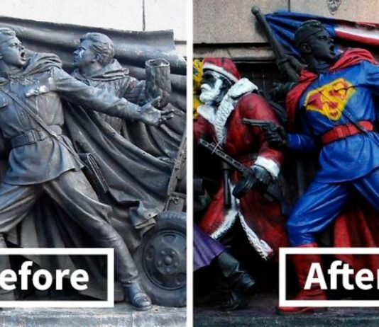 Bulgarians Are Vandalizing This Soviet Monument By Giving It Hilarious Makeovers